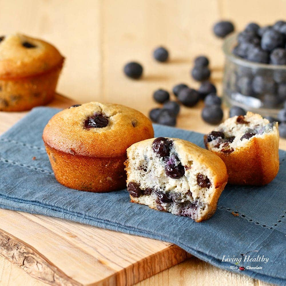 Paleo Blueberry Muffin (gluten-free, grain-free, dairy-free) by LivingHealthyWithChocolate