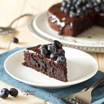 Blueberry Chocolate Cake (gluten-free, dairy-free, Paleo)